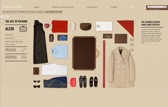 Louis Vuitton : the art of packing