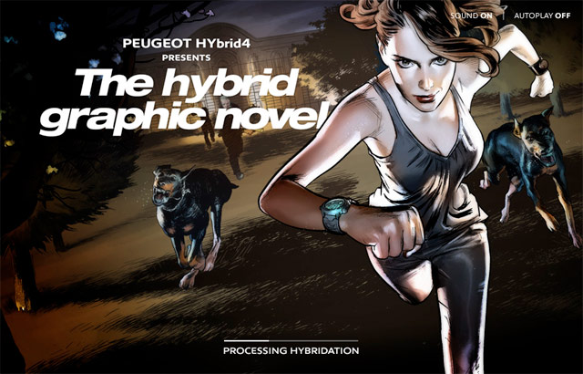 Peugeot | The HYbrid4 Graphic Novel