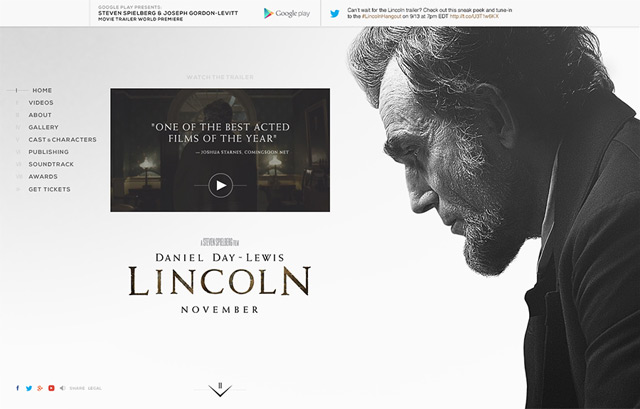 Lincoln Theatrical Website