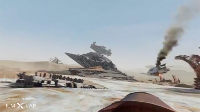 Star Wars VII : la planète Jakku en 360°
