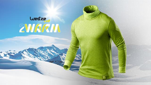 Le 2Warm, un sous-vêtement de ski réversible à niveaux de chaleur