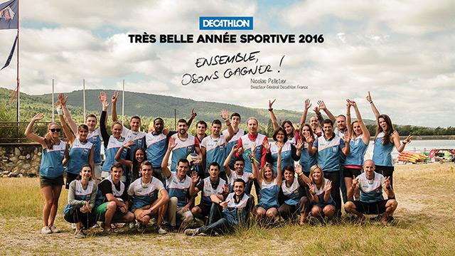 Decathlon souhaite une année 2016 audacieuse à ses collaborateurs